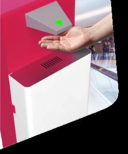 Sanitizer Dispenser using image